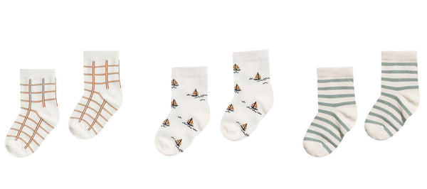 Printed Ankle Sock Set