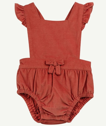 Apricot Babycord Romper