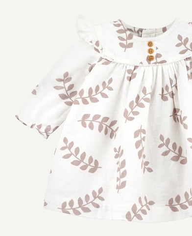Ivory Fern Print Woven Dress