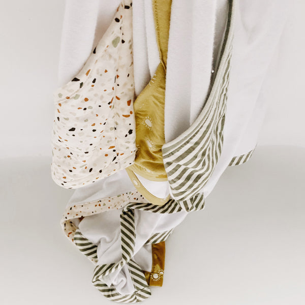 Hooded Towel Exclusive - Olive Stripe