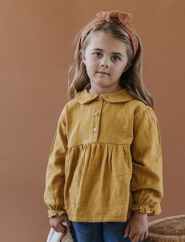 Collar Blouse - Mustard