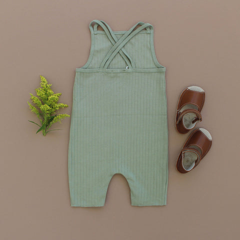 Double Strap Playsuit - Sage