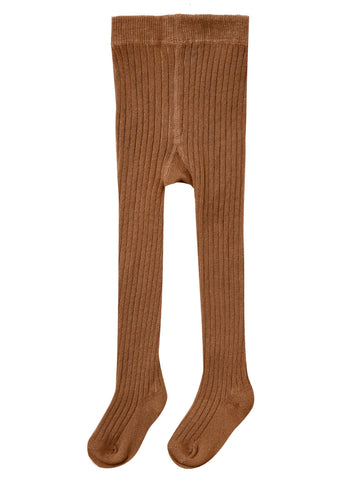 Ribbed Knit Tights - Cinnamon