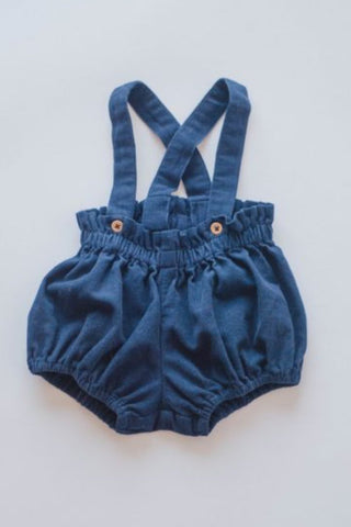 Navy Cord Suspender Bloomers