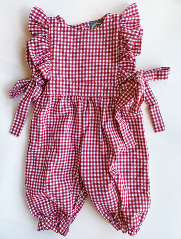 Molly Romper - Red Gingham