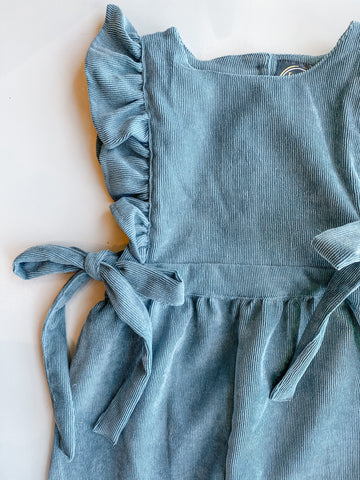 Molly Romper - Teal Corduroy