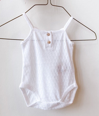 Cotton Pointelle Bodysuit