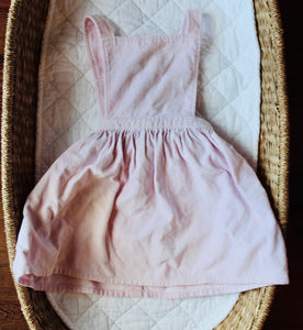 pink felt pinafore // size 3/4y // GUC