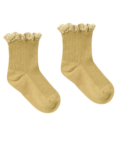 Lace Trim Socks - all colors