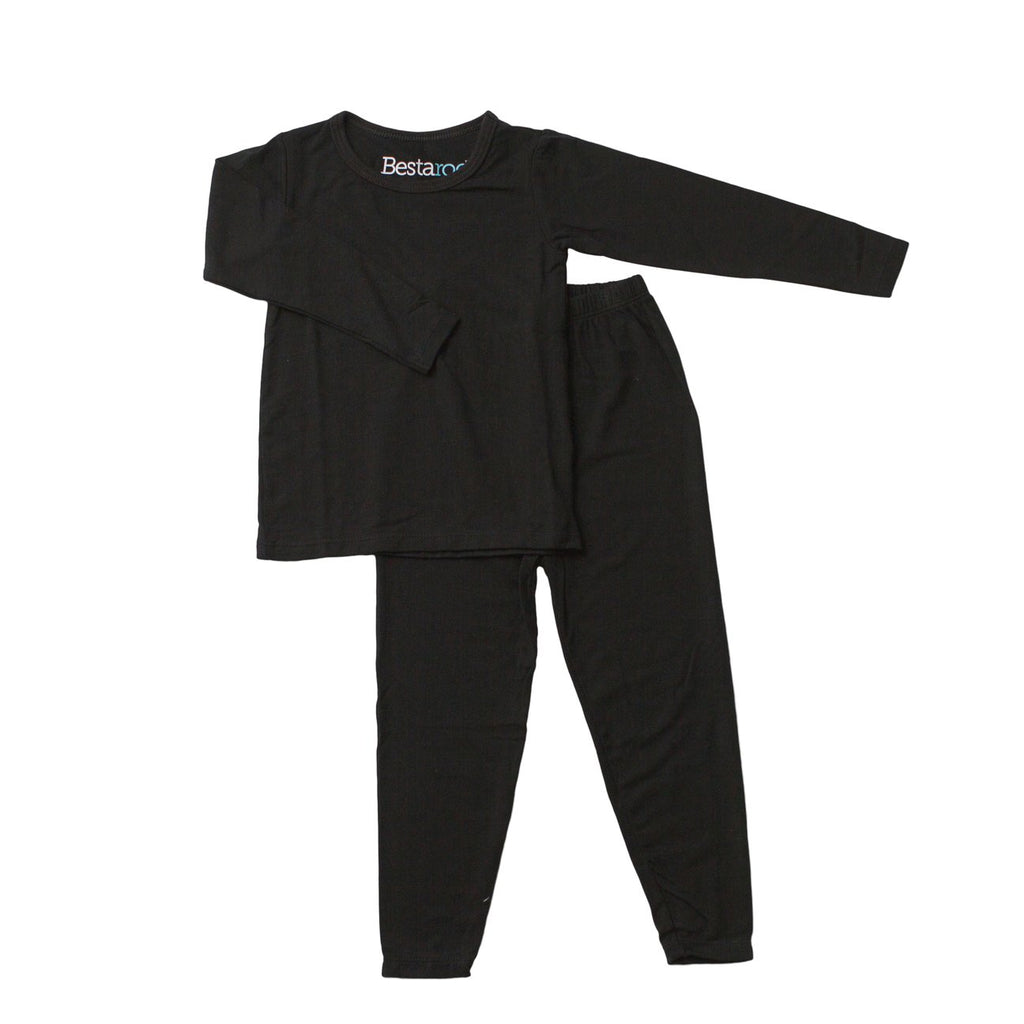 Solid Black Pajama Set