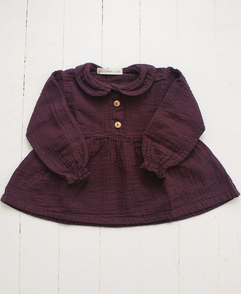 Collar Blouse - Eggplant
