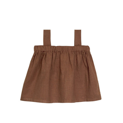 Paperbag Top- Hazelnut