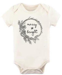 Merry and Bright Organic Onesie