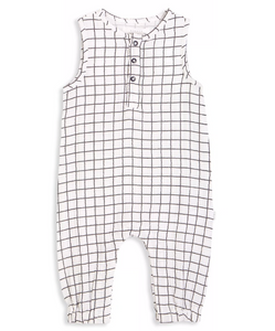 Contrast Grid Playsuit
