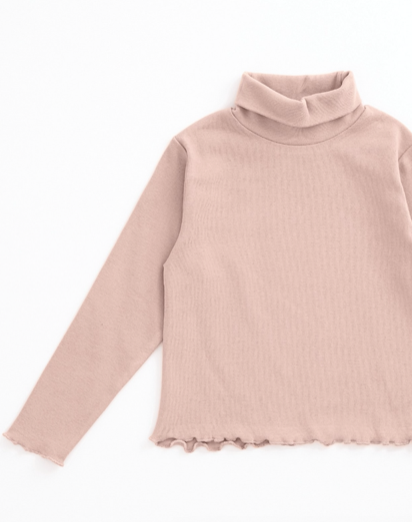 Ruffle Edge Turtleneck