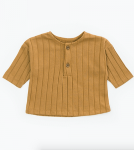 Ribbed Tee - Caramel **LAST ONE 18M**
