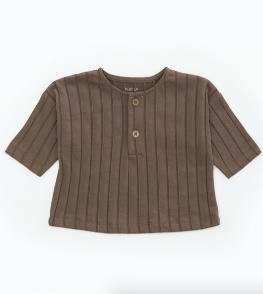 Ribbed Tee - Walnut