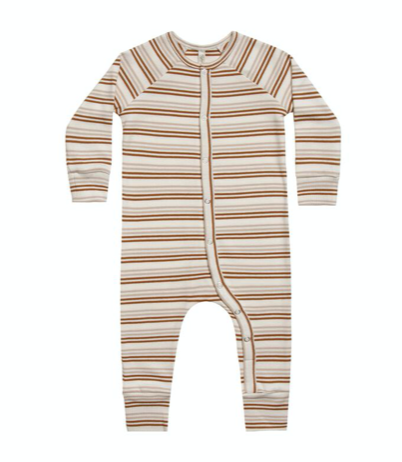 Striped Longjohn - Oatmeal/Cinnamon