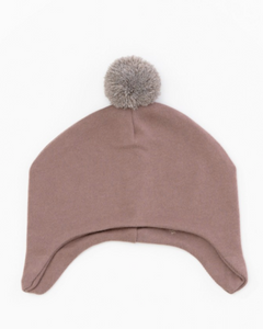 Organic Pom Hat - Purplewood **LAST ONE 9/12M**