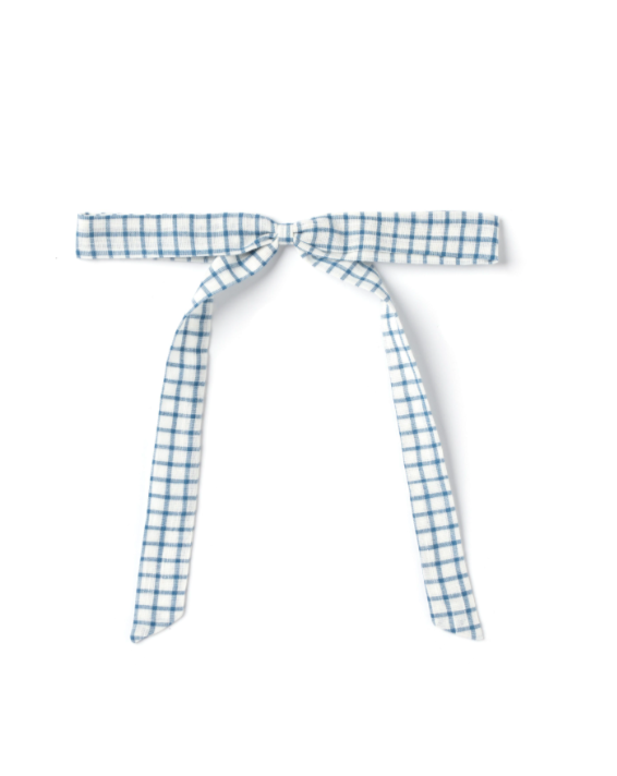 Ribbon Bow - White Chex