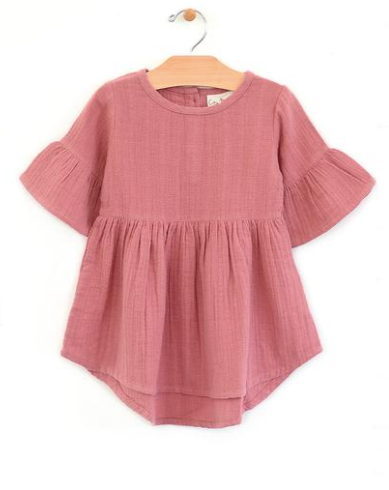 Woven Bell Sleeve Dress