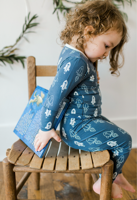 Navy Rockets Pajama Set