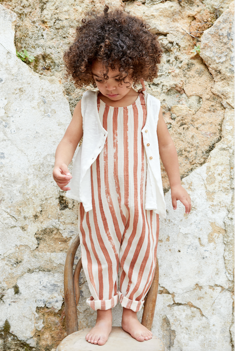 Clay Stripe Jumpsuit
