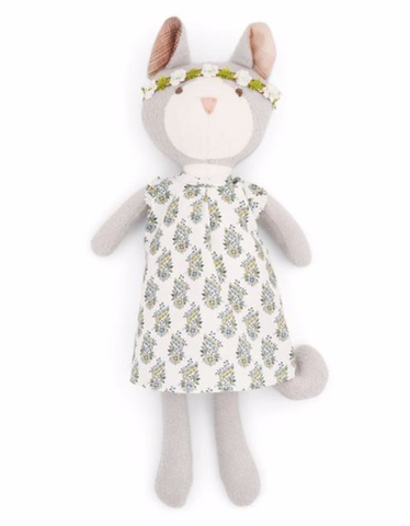 Gracie Cat - Floral Dress and Crown