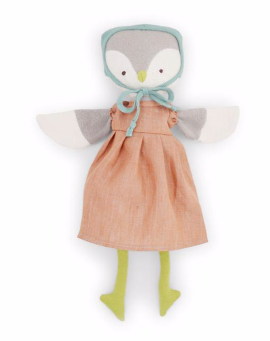 Lucy Owl - Linen Dress and Bonnet
