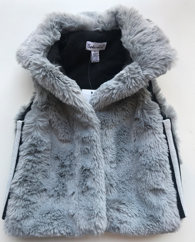 Lurex Tape Fur Vest
