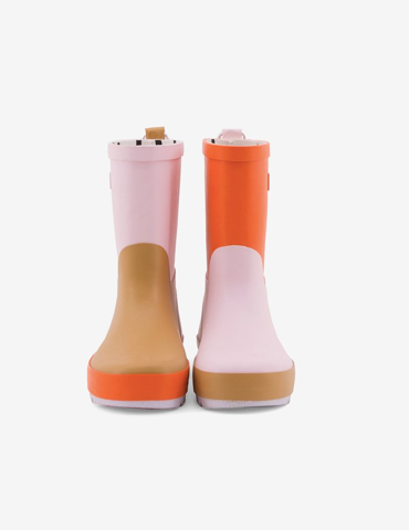 Colorblock Rain Boots - Pink