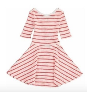 Abbey Dress - Rose Stripe