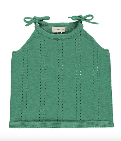 Knit Tie Tank - School House Green