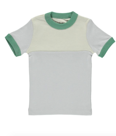 Vintage Tee - Cloud / Green