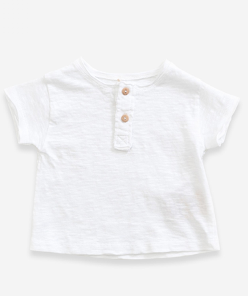 White Cotton Pocket Tee