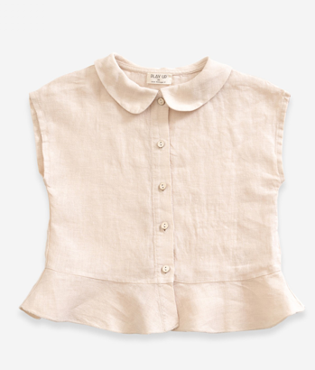 Warp Ruffle Collar Top