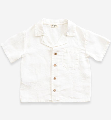 White Cotton Collar Shirt