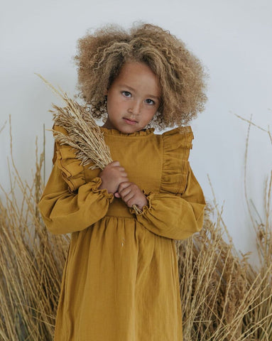 Frill Dress - Honey