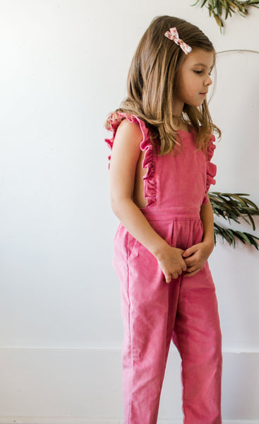 Skye Corduroy Playsuit - Dusty Rose
