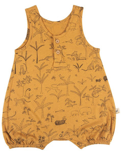 The Story Romper- Spruce Yellow