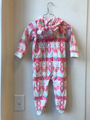 Carter's fleece onesie // size 24mo // EUC