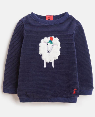 Navy Fluffy Sheep Sweater