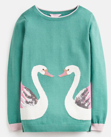 Double Swan Sweater