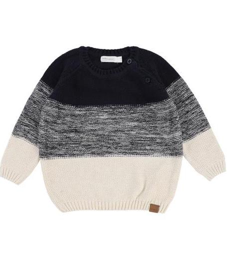 Navy to Cream Sweater