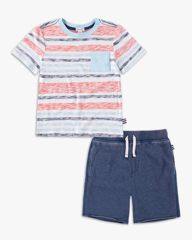Striped Pocket Tee Set