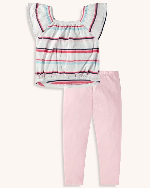 Multi Striped Top Set