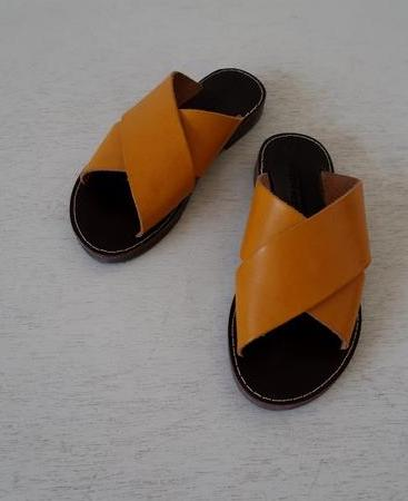 Solange Slide ~ Marigold + Chocolate