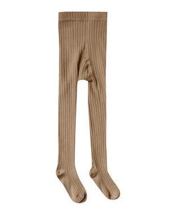 Ribbed Tights - Caramel