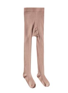 Ribbed Tights - Truffle