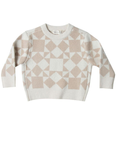 Patchwork Jacquard Knit Pullover